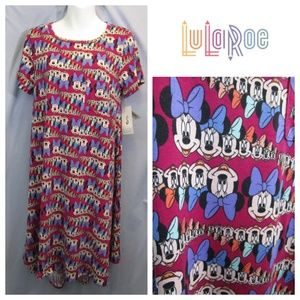 NWT Lularoe Carly Minnie Mouse Disney Collection S